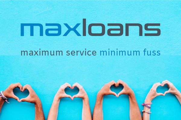 Max Loans logo with blue background