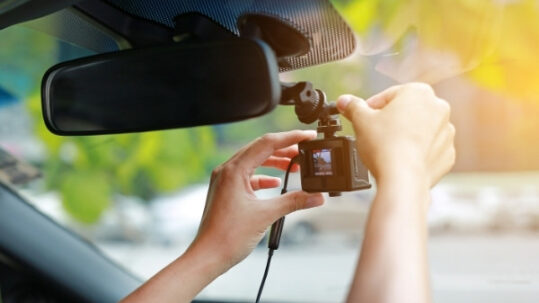 Having a dash cam installed in a vehicle
